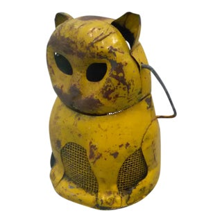 Primitive Steel Cat Lantern