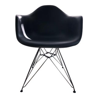 Eames Molded Plastic Wire-Base Armchair