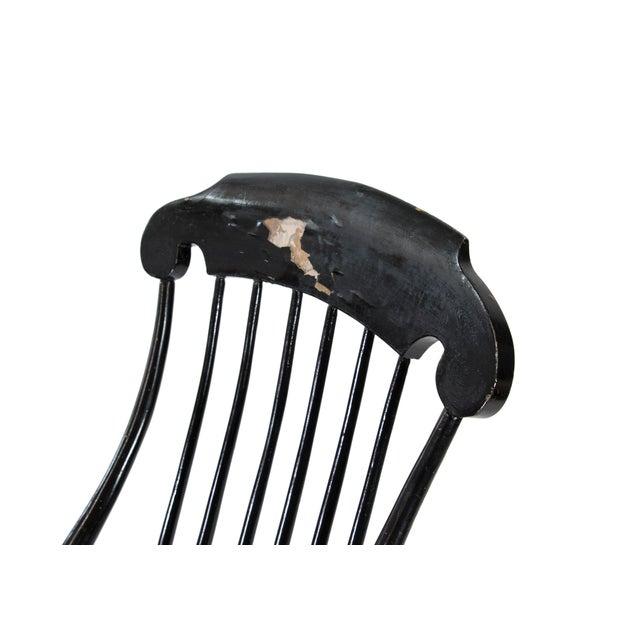 Black 19th Century Vintage Swedish Gungstol Rocking Chair For Sale - Image 8 of 12