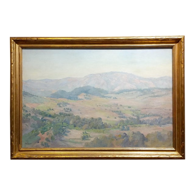 Charles Fries -The Land of the Oaks-California Plein Air Oil Painting c1918 For Sale