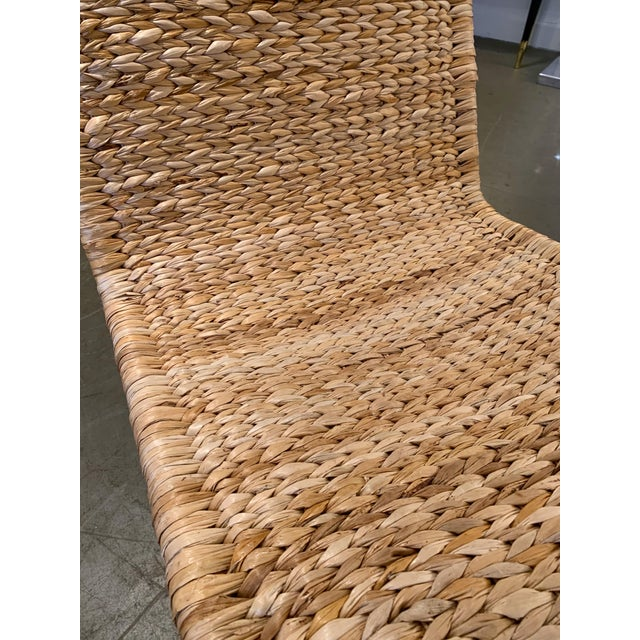 Pair of large braid rattan chaise lounge lounge chair or armchairs model P3 by the designer Tito Agnoli, interesting and...