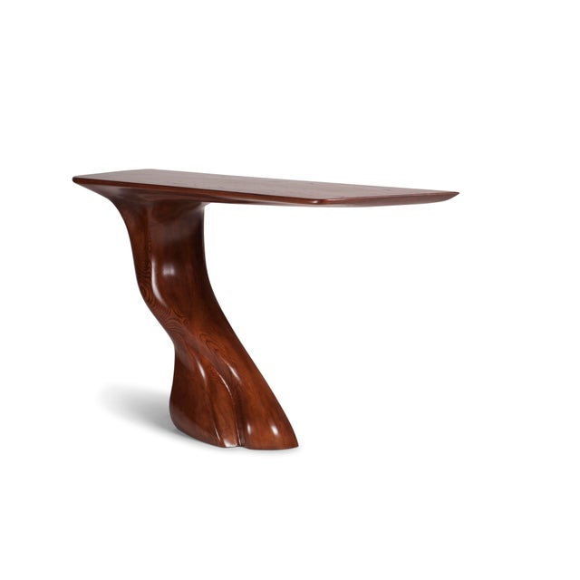 Brown Amorph Frolic Console Table, Wall Mounted - Walnut Stained For Sale - Image 8 of 12