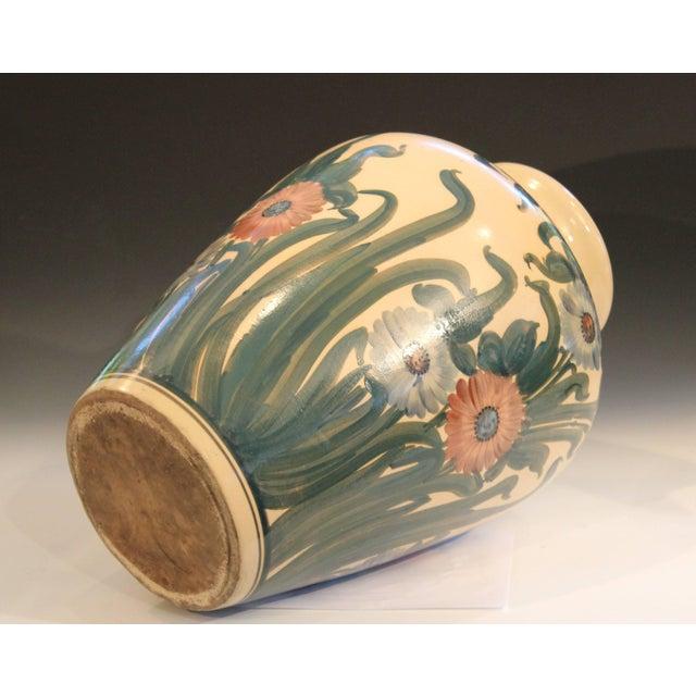 Ceramic Big Rrp Co Robinson Ransbottom Roseville Garden Urn Pottery Porch Floor Vase For Sale - Image 7 of 11