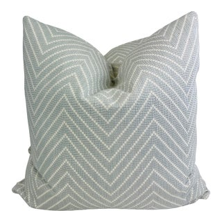 """Groundwork's """"Fuji Moderne"""" in Dove 22"""" Pillows-A Pair For Sale"""