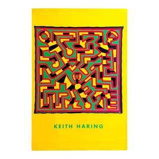 """Keith Haring Estate Rare Vintage 1993 Lithograph Print Collector's Pop Art Poster """" Untitled """" 1988 For Sale"""