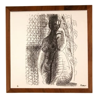 Female Nude Picasso Limited Edition Print on Ceramic Tile For Sale