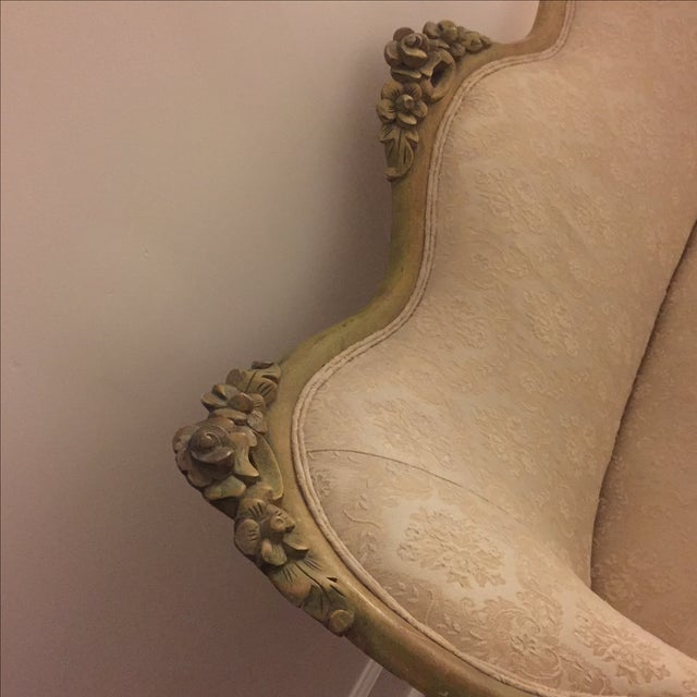 Vintage French Shabby Chic Settee - Image 7 of 9