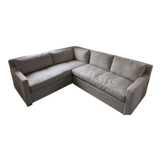 Restoration Hardware Belgian Track Arm Sectional For Sale