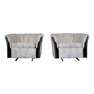 Hollywood Regency Rocking Club Chairs - a Pair For Sale