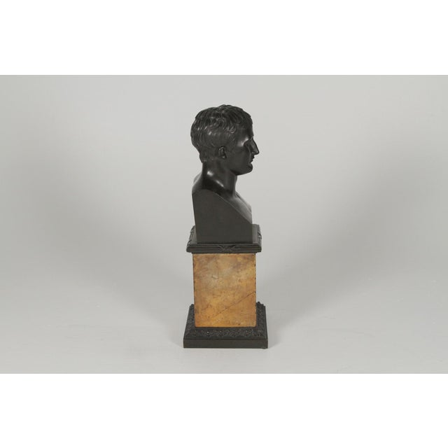 Traditional 1900's Traditional Bronze Bust on a Marble Base For Sale - Image 3 of 10