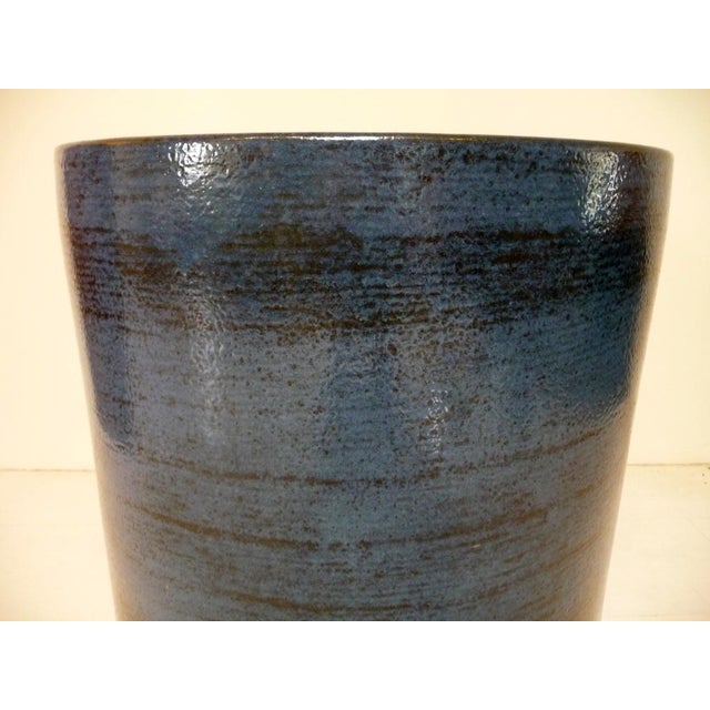 Gainey Pottery Gainey Ceramics Mid Century Modern Blue Planter For Sale - Image 4 of 6