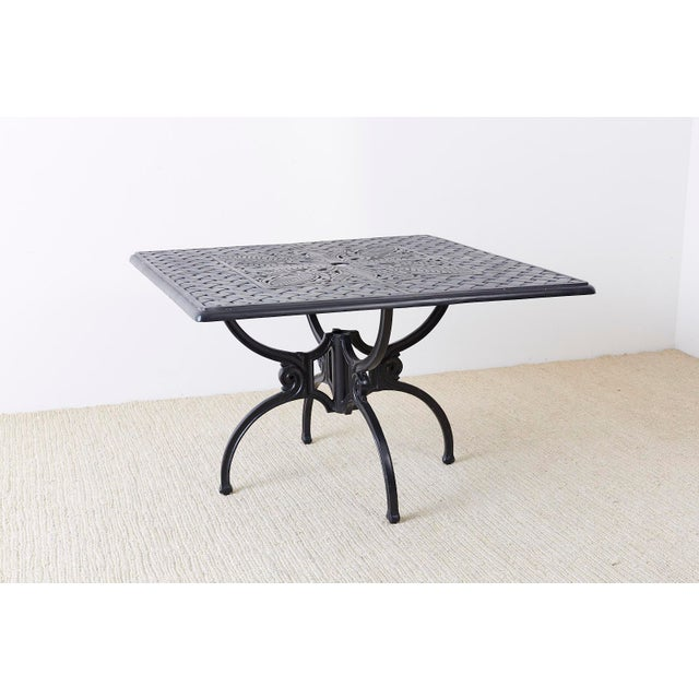 Late 20th Century Neoclassical Molla Style Cast Aluminium Garden Dining Table For Sale - Image 5 of 13