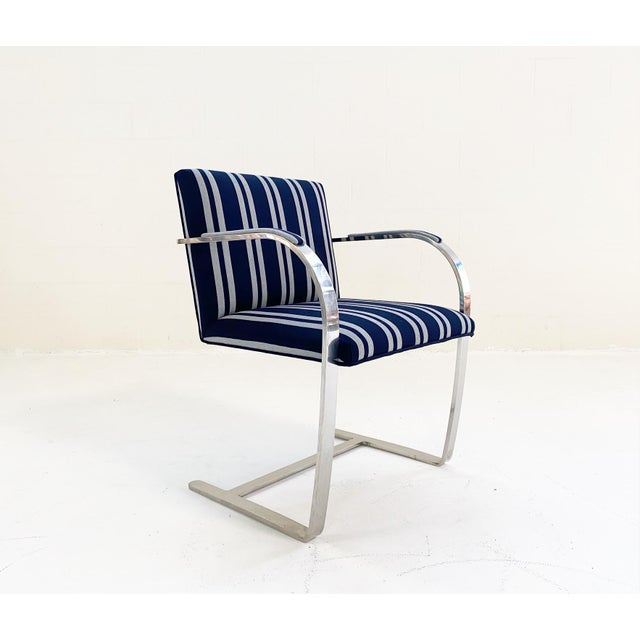 Navy Blue Kule X Forsyth Ludwig Mies Van Der Rohe Brno Chair For Sale - Image 8 of 9