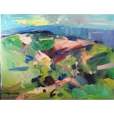 "Image of Jose Trujillo Large Impressionist Painting of Hills - 16x20"" For Sale"