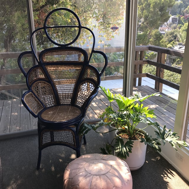 Art Deco Anthropologie Peacock Chair For Sale - Image 3 of 4