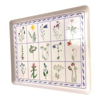 1960's Vintage Italian Botanical Serving Tray For Sale