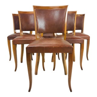 Cordovan Dining Chairs- Set of 6 For Sale