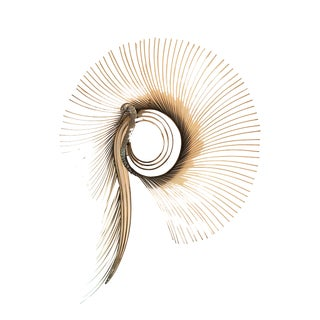 1980s Cutis Jere Brass Peacock Contemporary Modern Hanging Burst Wall Sculpture, Signed For Sale