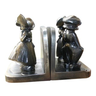 FrankArt, Inc. Dutch Boy Girl Bookends, 1934 - A Pair
