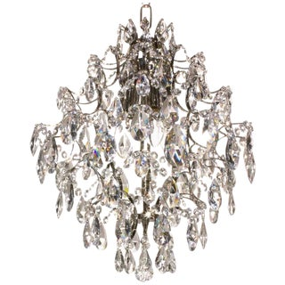Nickel Almond & Ball 36cm Chandelier For Sale