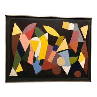 Abstract Oil Painting by Martin Rosenthal, 1964 For Sale