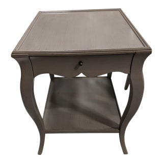 Traditional French Gray Painted End Table For Sale