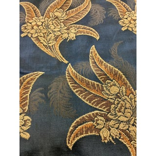 Antique Satin Brocade Fabric Panels - Set of 2 For Sale