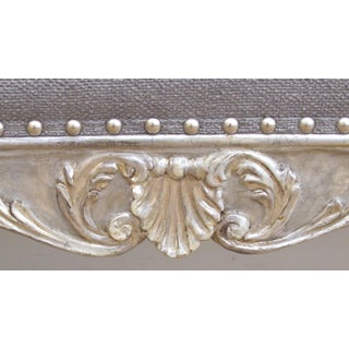 A Shapely and Well-Carved Venetian Rococo Style Painted and Silver Gilt Bench With Foliate and Shell Motif Preview