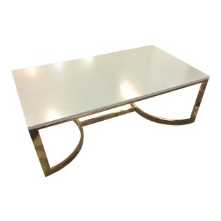 Contemporary Rectangular Cocktail Table For Sale
