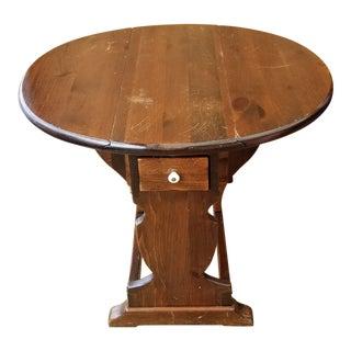 Ethan Allen Tavern Pine Drop Leaf End Table For Sale