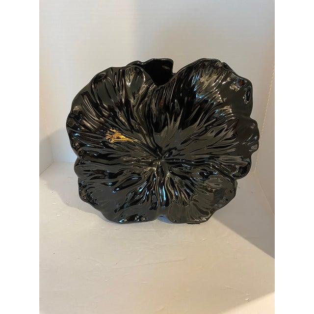 Vintage Peony Flower Bloom Ceramic Vase For Sale - Image 9 of 13