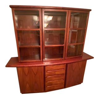 Mid Century Danish Modern Skovby Rosewood Credenza With Hutch For Sale