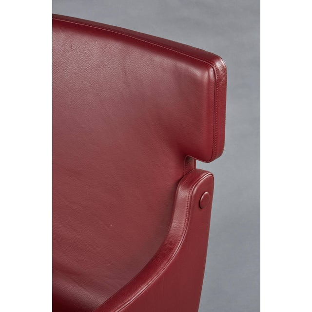 Gold Pair of Ignazio Gardella Leather Chairs For Sale - Image 8 of 9