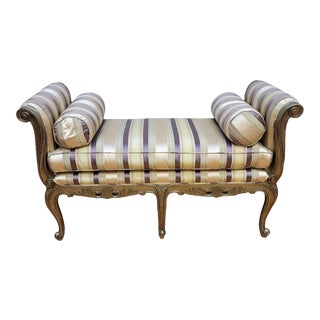1980s Marge Carson Attributed Beauvais Bench For Sale