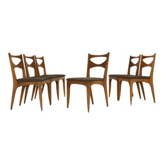 1950s Drexel Profile Dining Chairs by Koert - Set of 6 For Sale