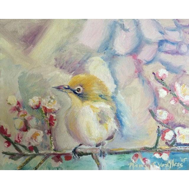 Nancy T. Van Ness Bird on Branch Oil Painting Print - Image 5 of 10