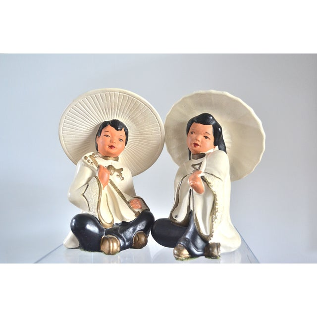 Asian Figurines—Pair - Image 2 of 5