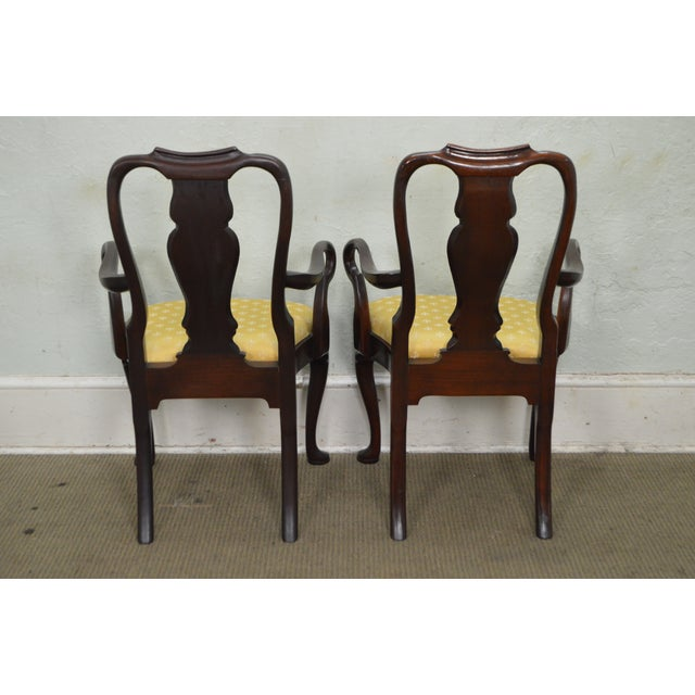Hickory Chair Co. Set of 6 Mahogany Queen Anne Style Dining Chairs - Image 7 of 10