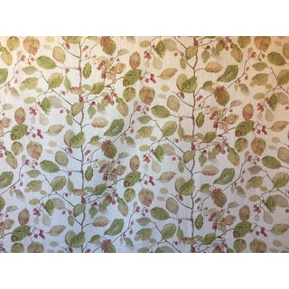 Sanderson Woodland Berries Print Fabric Remnant For Sale