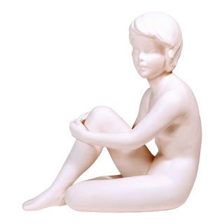 Vintage Goebel Nude Woman White Bisque Porcelain Figurine Sculpture For Sale