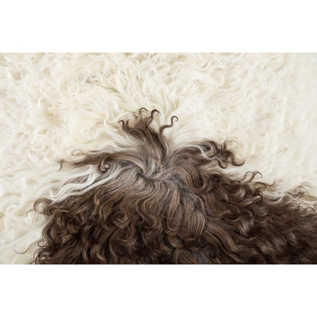 """2010s Contemporary Natural Wool Sheepskin Pelt -2'3""""x3'0"""" For Sale - Image 5 of 6"""