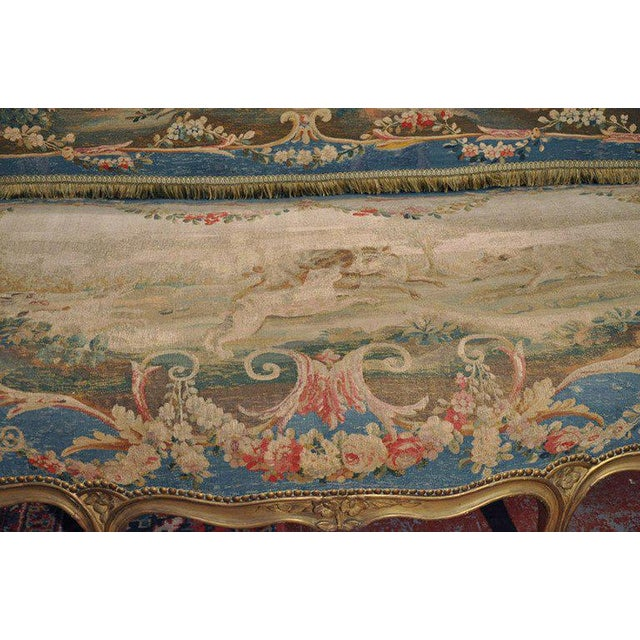 Louis XV Carved Gilt & Aubusson Tapestry Canapé - Image 7 of 10