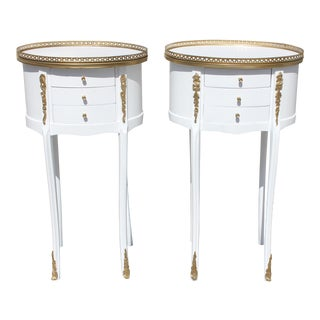 1910s French Louis XVI Maison Jansen Side Tables - a Pair For Sale