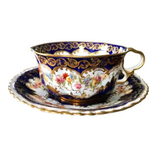 Antique Crown Staffordshire Tea Cup & Saucer Set #807 For Sale