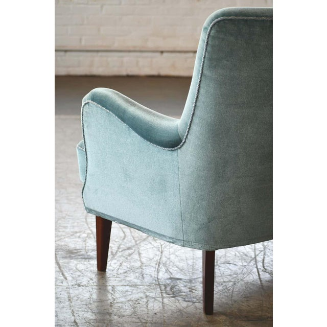 1950s Classic Frits Henningsen Style Settee or Loveseat Danish Midcentury For Sale - Image 5 of 10