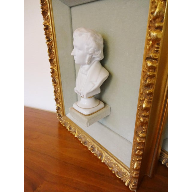 Framed Bust Portraits of Classical Composers - Set of 3 For Sale - Image 10 of 13