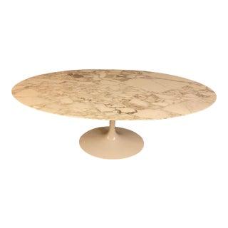 Knoll Saarinen Oval Carrara Table For Sale