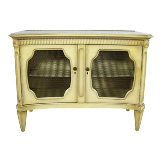 Hollywood Regency Dry Bar Liquor Cabinet Mid Century With Golden Glo Finish For Sale