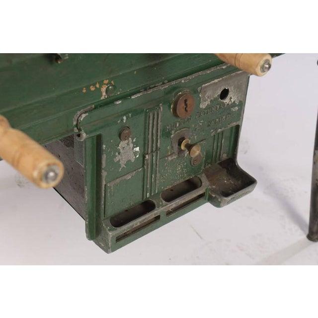 Vintage Cast Metal Foosball Table For Sale - Image 4 of 4