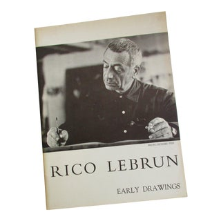 Rico Lebrun Early Drawings Exhibition Book 1965 For Sale